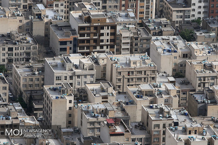 شهر تهران از فراز برج میلاد/کیفیت هوای تهران/ مسکن