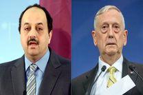 تماس تلفنی وزیر دفاع قطر با همتای آمریکاییاش