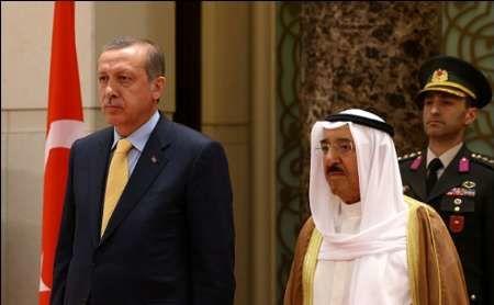 مذاکرات اردوغان با امیر کویت