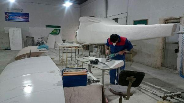 ساخت هواپیمای دونفره در هنرستان شهید چمران شهرستان اسلامآباد غرب