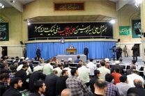 مراسم سوگواری مولای متقیان امام علی(ع) در حضور مقام معظم رهبری