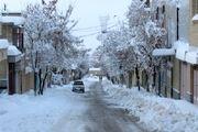 بارش برف زمستانی در مناطق غربی استان اصفهان
