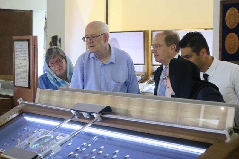 موزه بانک سپه میزبان سفیر و رئیس خانه حراج تمبر و سکه نیوزیلند شد