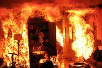 یک منزل مسکونی در روستای کونمردی در آتش سوخت