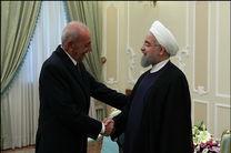 دیدار روحانی با رئیس مجلس لبنان