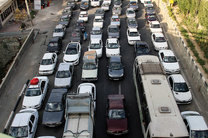 بارش باران در محور چناران-مشهد/ ترافیک پرحجم در محور کندوان