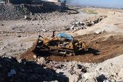 عملیات لایروبی رودخانه و احداث دیوار حائل در پل ماسور آغاز شد