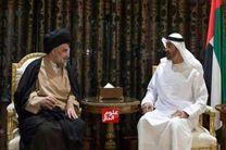 مقتدی صدر در امارات با ولیعهد ابوظبی دیدار کرد