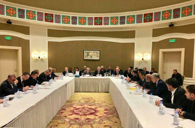 دومین دور رایزنی هیاتهای ایران، روسیه و ترکیه در آستانه برگزار شد