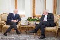 دیدار ظریف و نماینده سازمان ملل در امور سوریه در حاشیه اجلاس امنیتی مونیخ