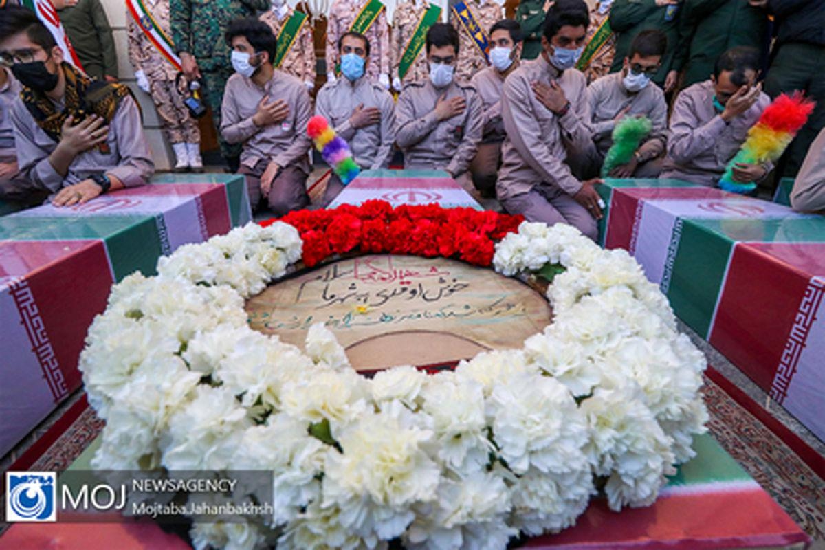 گلستان شهدای اصفهان منور به عطر حضور 2 شهید گمنام