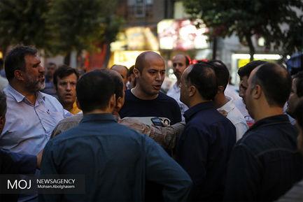 ریزش ساختمان قدیمی در خیابان وحدت اسلامی