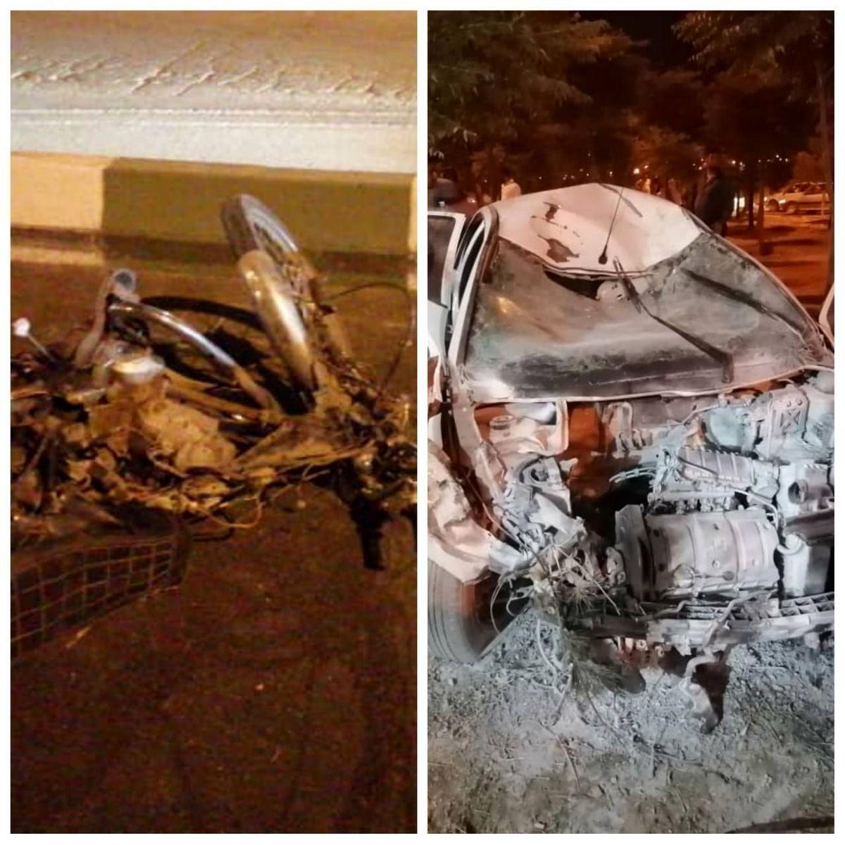 فوت 5 نفر درپی تصادف خودرو 206 با موتورسیکلت