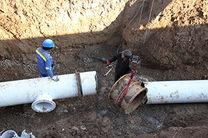 پایان تعمیرات خط انتقال اصلی ٥٠٠ میلیمتری شهر خمیر