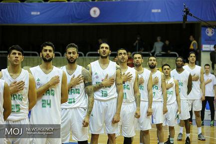 دیدار تیم های  ملی بسکتبال ایران و عراق