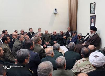 دیدار فرماندهان ارشد نیروهای مسلح با مقام معظم رهبری