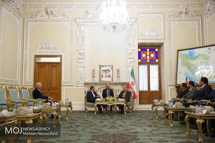 دیدار وزیر امور خارجه پیشین آلمان با علی لاریجانی