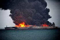 لکه نفتکش سانچی در حال گسترش به صدها مایل از آب های دریایی چین شرقی است