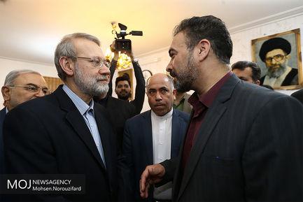 بازدید نوروزی علی لاریجانی از ستاد اسکان فرهنگیان قم