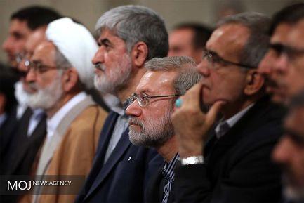 دیدار رئیس و نمایندگان مجلس شورای اسلامی با مقام معظم رهبری