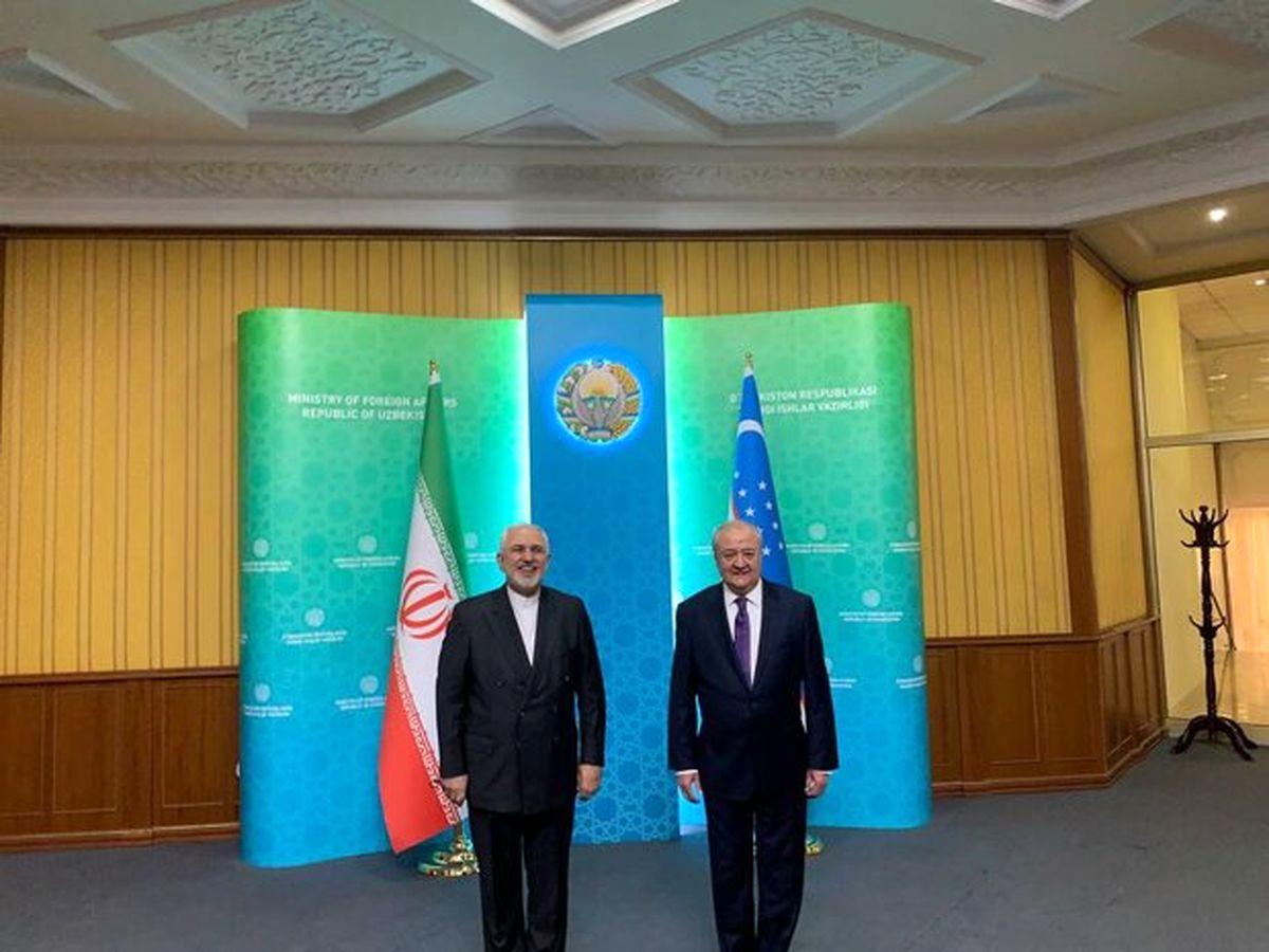 دیدار و گفتگو ظریف با وزیر امورخارجه ازبکستان