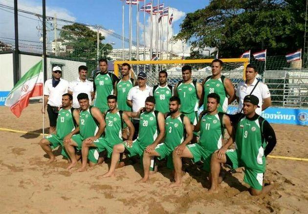 تیم ملی هندبال ساحلی ایران مقابل افغانستان به برتری رسید