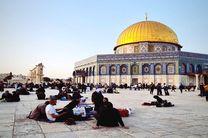 لحظه افطار در مسجدالاقصی در ششمین روز ماه رمضان