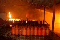 مهار آتش در کارگاه شارژ سیلندر اصفهان