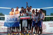 گلستان قهرمان والیبال ساحلی کارگران جهان شد