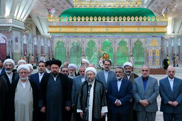 تجدید میثاق رئیس قوه قضاییه با آرمان های بنیانگذار انقلاب اسلامی