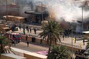 پایگاه نظامیان آمریکایی در بغداد هدف راکت قرار گرفت