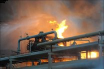 پتروشیمی آبادان دچار آتش سوزی شد