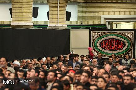 مراسم عزاداری ایام شهادت حضرت فاطمهزهرا(س) باحضور مقام معظم رهبری