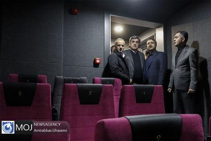 آیین بهره برداری از طرح توسعه سینما گالری ملت