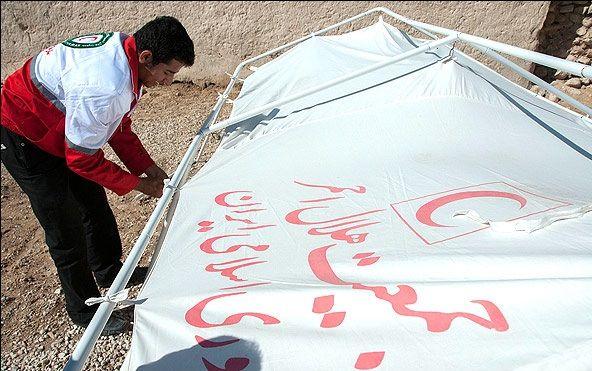 برپایی ۱۰۱۲ دستگاه چادر برای اسکان اضطراری زلزلهزدگان خراسان شمالی