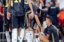حمایت رییس باشگاه یوونتوس از رونالدو پس از اخراج در لیگ قهرمانان اروپا