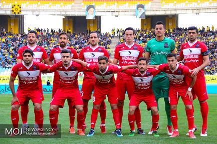 دیدار تیم های فوتبال سپاهان اصفهان و نساجی مازندران/عکس تیمی نساجی