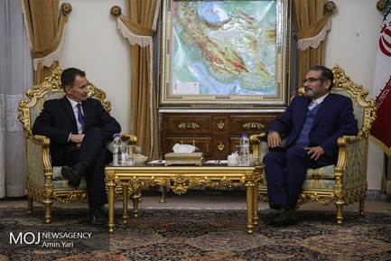 دیدار وزیر خارجه انگلیس و دبیر شورای عالی امنیت ملی