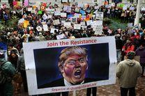 """راهپیمایی گسترده علیه ترامپ در روز ملی """"روسای جمهور آمریکا"""""""