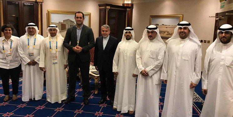 دیدار صالحی امیری با رئیس کمیته المپیک کویت