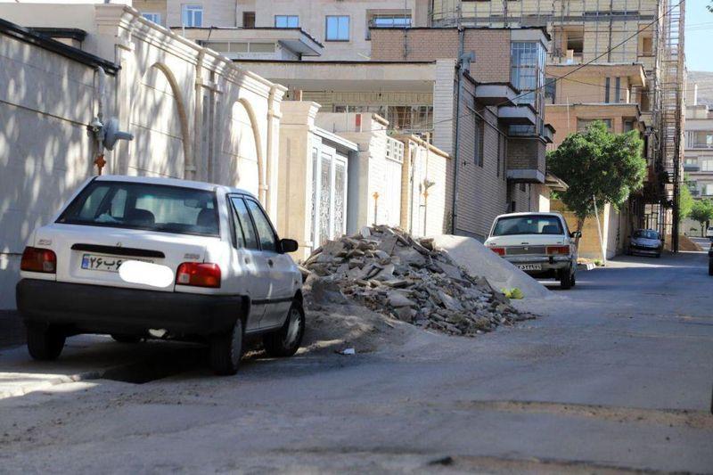 نازیبایی سیمای شهری و تضییع حقوق شهروندان در رهاسازی نخالههای ساختمانی!