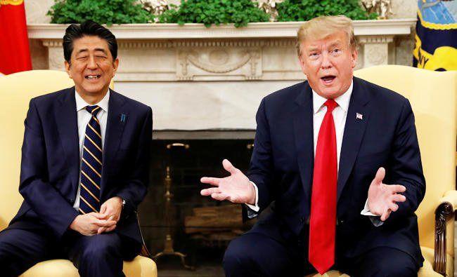 ترامپ از احتمال توافق تجاری با ژاپن در ماه می خبر داد