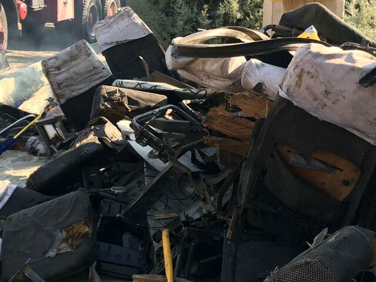 تصادف پژوی حامل سوخت در جاده سیریک ۲ کشته و سه زخمی بر جای گذاشت