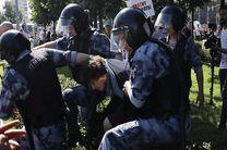 بیش از 1000 نفر در تظاهرات غیرقانونی مسکو بازداشت شدند