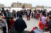 حضور فیتیله ایها در جمع کودکان زلزلهزده غرب کشور
