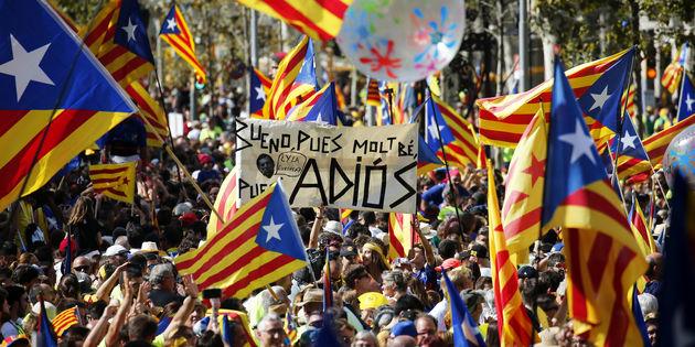 تظاهرات استقلال طلبان در کاتالونیا