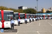 بهره برداری اتوبوس های جدید در تهران به مناسبت ۲۲ بهمن