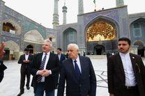 حضور مسوولان مجارستان در حرم حضرت معصومه (س)