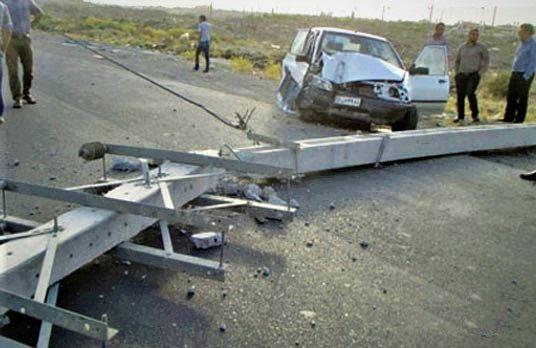 تصادف جاده ای در پارسیان سه کشته بر جای نهاد
