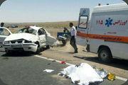 واژگونی خودرو سمند با 2 کشته و چهار مصدوم در اردستان
